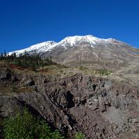 Plains of Abraham snow capped peak of Mount St. Helens