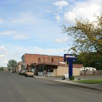 Street of the town in Sprague, Washington