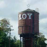 Water tower in Roy, Washington