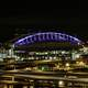 Century link field lighted up in Seattle, Washington