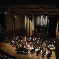 Seattle Symphony Orchestra in Benaroya Hall in Washington