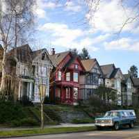 Houses in the South J Street Historic District in Tacoma, Washington