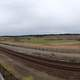 Panorama of the train tracks in Tacoma, Washington