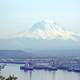 View from Brown's Point of Mt. Rainier and the Port of Tacoma, Washington