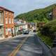 Downhill Cityscape View at Harper's Ferry, West Virginia