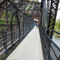 People on the Bridge at Harper's Ferry in West Virginia