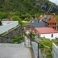 The town of Harper's Ferry in West Virginia