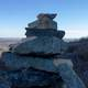 Spruce Knob Stack of Rocks Mountain Marker