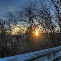 Sun from the Bridge on the 400 trail in Wisconsin