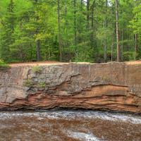 Rocks on the Opposite Shore at Amnicon Falls State Park, Wisconsin