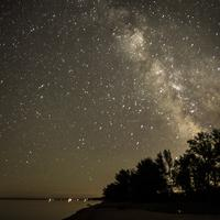 Milky Way Beyond the Trees in Bayfield, Wisconsin