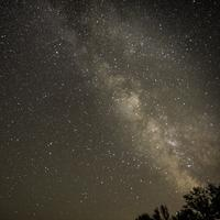 Stars and the Milky Way in Bayfield, Wisconsin