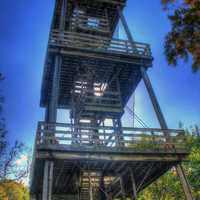 The Observation tower at Belmont Mounds State Park, Wisconsin