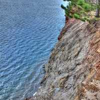 High Cliffs on the shoreline in the Black River Forest