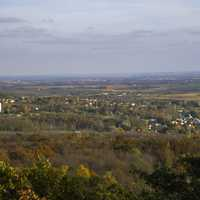 Town of Blue Mounds from the Tower landscape
