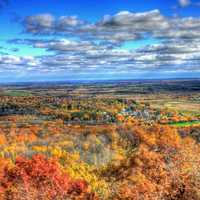 Bright fall colors in Blue Mound State Park, Wisconsin