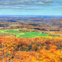Scenic overlook during the fall in Blue Mound State Park, Wisconsin
