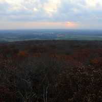 Scenic Sunset View of Forest in Blue Mound State Park, Wisconsin
