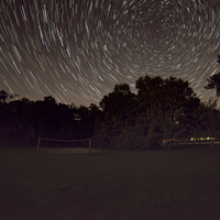 Star Trails over the trees at Buckhorn State Park