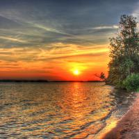 Sunset over Castlerock State Park at Buckhorn State Park, Wisconsin