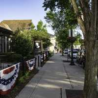 Sidewalks of downtown Cedarburg