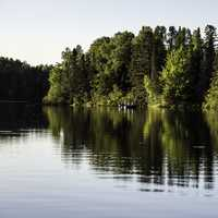 Fishing Boat on Day lake in Chequamegon National Forest, Wisconsin