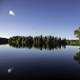Scenic landscape from Day lake in Chequamegon National Forest, Wisconsin