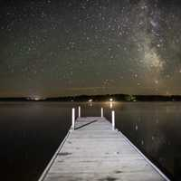Stars above Lake Namekagon in Chequamegon National Forest, Wisconsin