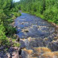 Rapids in the bad river at Copper Falls State Park, Wisconsin