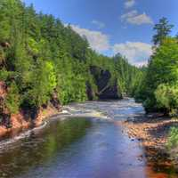 River banks at Copper Falls State Park, Wisconsin