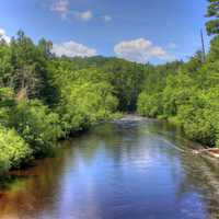 Scenic landscape of the Bad River at Copper Falls State Park, Wisconsin