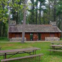 The Cabin/Shelter at Council Grounds State Park, Wisconsin