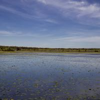Wide Angle View of Phantom Lake beneath the skies at Crex Meadows