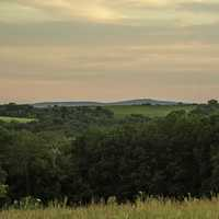 Dusk over the Hills in Cross Plains State Park