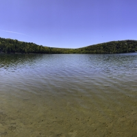 Clear waters of Devil's Lake Panoramic