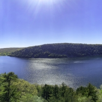 Panoramic Overlook at Devil's Lake State park
