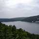 Scenic cloudy overlook at Devil's Lake