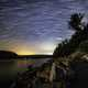 Star Trails at night at Devil's Lake