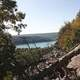 View of Lake from Halfway up the mountain at Devil's Lake State Park, Wisconsin