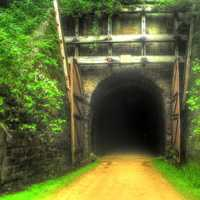 The 2nd Tunnel on the Elroy-Sparta State Trail, Wisconsin