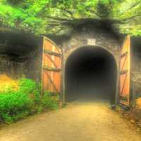 The First Tunnel on the Elroy-Sparta State Trail, Wisconsin