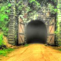 The Long Tunnel on the Elroy-Sparta State Trail, Wisconsin
