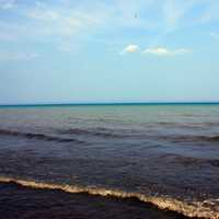 Waters of Lake Michigan at Fischer Creek, Wisconsin