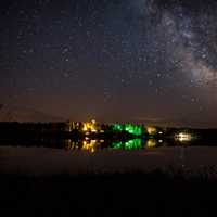 Campsites beneath the stars and the milky way