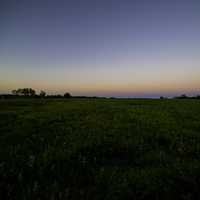 Grasslands at Dusk looking at the Horizon