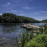 Dock and lake landscape at Governor Dodge State Park, Wisconsin