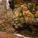Rock Caves and landscape at Governor Dodge State Park, Wisconsin