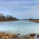 Icy Pond on the Great River Trail, Wisconsin