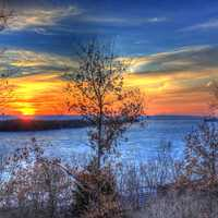 Scenic Sunset on the Great River Trail, Wisconsin