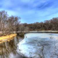 Some Frozen Backwaters on the Great River Trail, Wisconsin